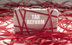 Tax Reform Briefcase Red Tape