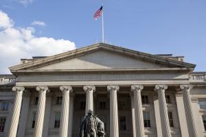 Treasury Department Building in Washington DC