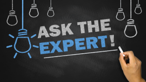 Ask the Expert Chalkboard